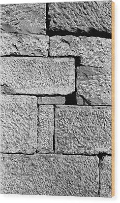 Stone Brick Wall Wood Print by Jagdish Agarwal