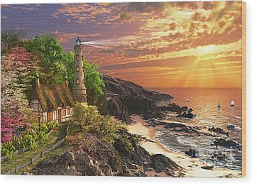 Stoney Cove Wood Print by Dominic Davison