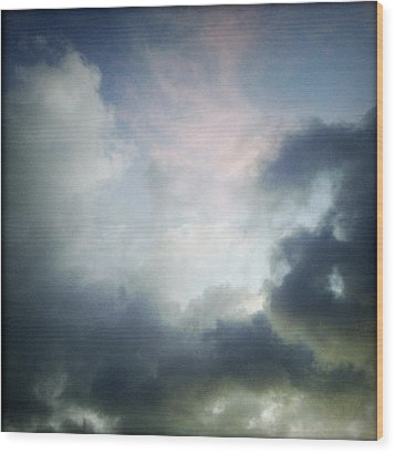 Storm Clouds Wood Print by Les Cunliffe