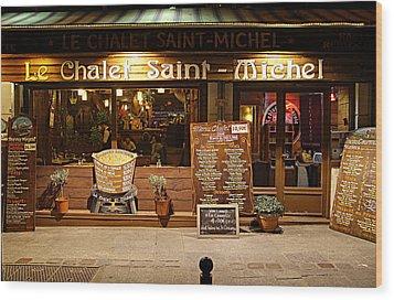 Street Scenes - Paris France - 011328 Wood Print by DC Photographer