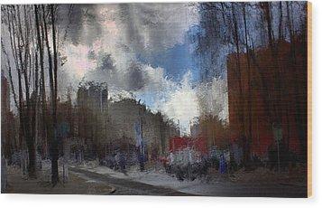 Streetlights 2 Wood Print by Terence Morrissey