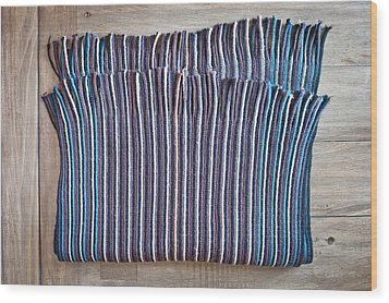 Striped Scarf Wood Print by Tom Gowanlock