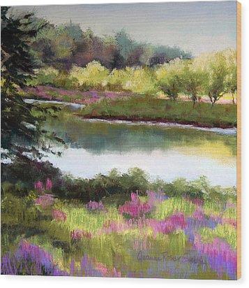Sudbury River Wood Print by Jeanne Rosier Smith