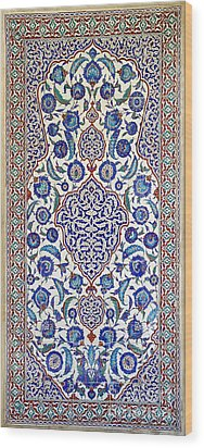 Sultan Selim II Tomb 16th Century Hand Painted Wall Tiles Wood Print by Ralph A  Ledergerber-Photography