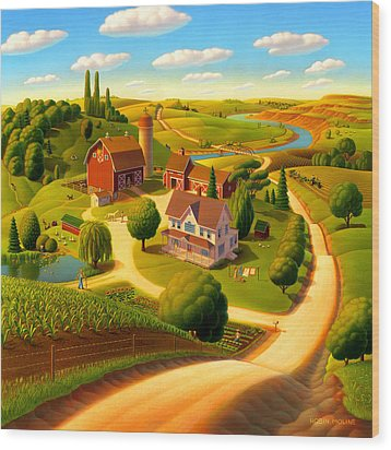 Summer On The Farm  Wood Print