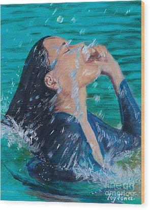 Summer Splash Wood Print