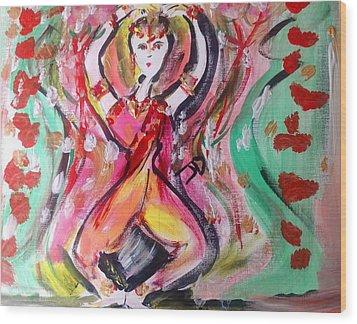 Sun Dance Wood Print by Judith Desrosiers