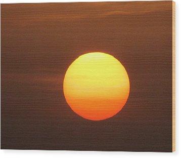 Sundown Wood Print by Andrea Dale
