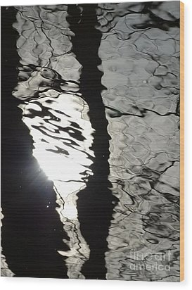 Wood Print featuring the photograph Sunlight On Water by Jane Ford
