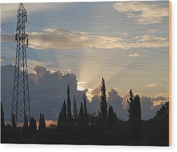 Sunrise Wood Print by George Katechis