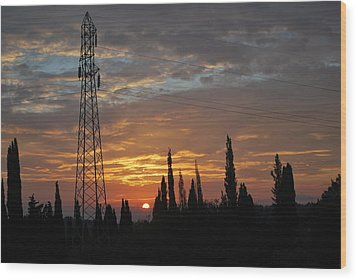 sunrise in Corfu 2 Wood Print by George Katechis