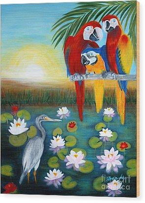 Sunrise In Paradise. Inspirations Collection. Wood Print by Oksana Semenchenko