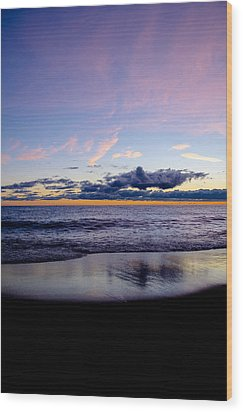 Wood Print featuring the photograph Sunrise Lake Michigan September 14th 2013 004 by Michael  Bennett