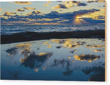 Sunrise Lake Michigan September 14th 2013 006 Wood Print
