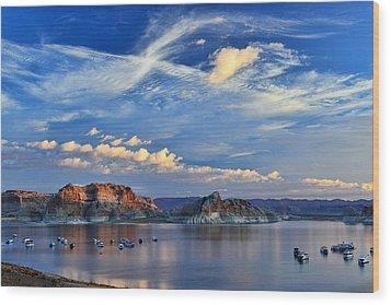 Sunrise Over Lake Powell Az Wood Print