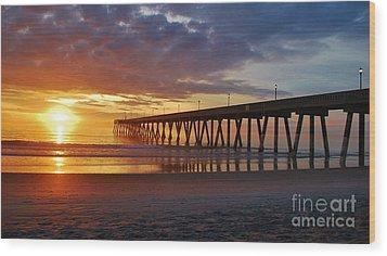 Sunrise Panorama  16x9 Ratio Wood Print by Bob Sample