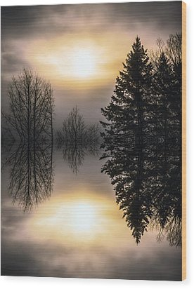 Sunrise-sundown Wood Print