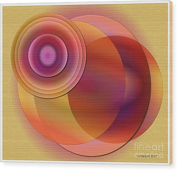 Wood Print featuring the digital art Sunsational by Iris Gelbart