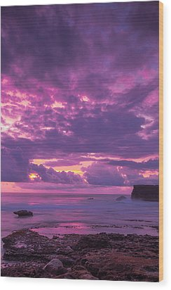Wood Print featuring the photograph Sunset At Tanah Lot - Bali by Matthew Onheiber