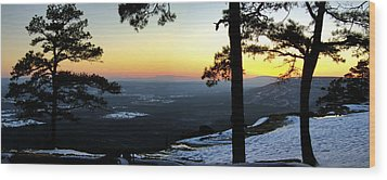 Sunset Atop Snowy Mt. Nebo Wood Print by Jason Politte