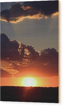 Wood Print featuring the photograph Sunset by Elizabeth Budd