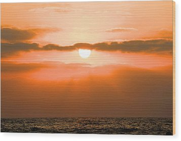 Sunset Wood Print by Gregor  Gatti