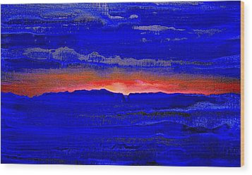 Sunset 2005 Wood Print