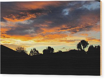 Sunset New Zealand  Wood Print by Joyce Woodhouse