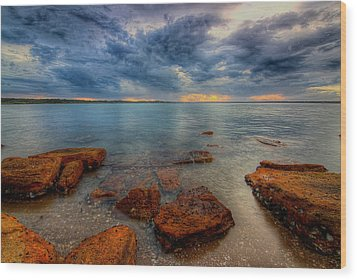Sunset Surprise Wood Print by Paul Svensen