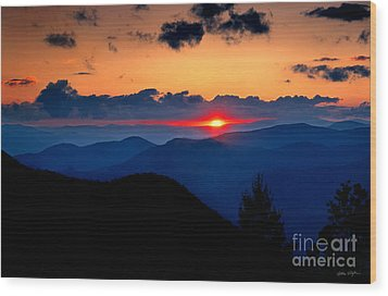 Sunset View From The Blue Ridge Parkway 2008 Wood Print