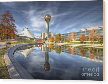 Sunsphere Wood Print