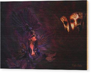 Wood Print featuring the digital art Supplication 06301301 - By Kylie Sabra by Kylie Sabra