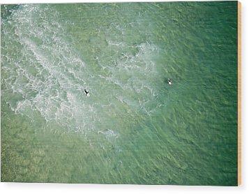 Surfers, Gold Coast Wood Print by Brett Price