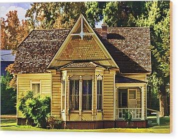 Wood Print featuring the painting Sweet Home by Muhie Kanawati