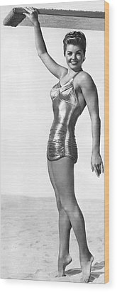 Swimming Star Esther Williams Wood Print by Underwood Archives