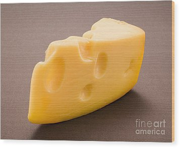 Swiss Cheese Wood Print by Danny Smythe