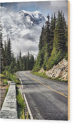 Wood Print featuring the photograph Taking The High Road by Bob Noble Photography