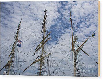 Wood Print featuring the photograph Tall Ship Mast by Dale Powell