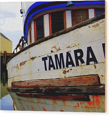 Tamara Wood Print by Mamie Gunning