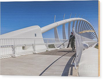 Te Rewa Rewa Bridge Taranaki New Zealand Wood Print by Colin and Linda McKie