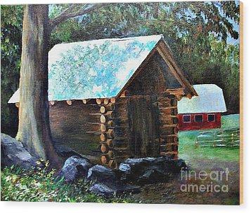Tessentee Cabin Wood Print