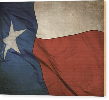 Rustic Texas Flag  Wood Print by David and Carol Kelly