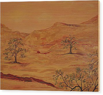 Texas Hill Country Wood Print by Kathy Peltomaa Lewis