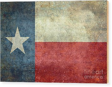 Texas The Lone Star State Wood Print