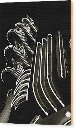Texas Theatre Marquee Wood Print by John Babis