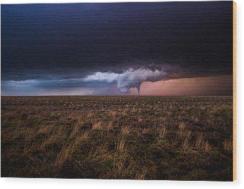 Texas Tornado Wood Print