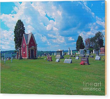 Wood Print featuring the photograph Fryburg Cemetery by Gena Weiser