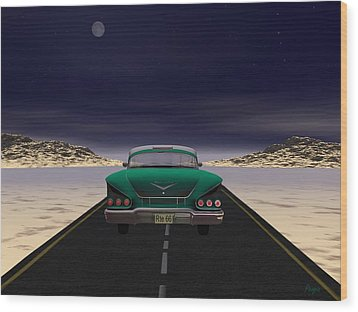 Wood Print featuring the digital art The 58 On 66 by John Pangia