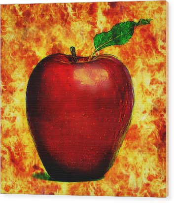 The Apple Of Eris Wood Print by Persephone Artworks
