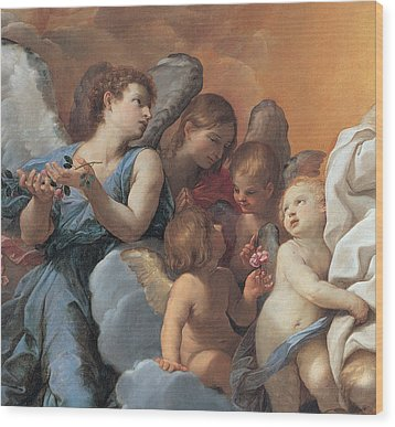 The Assumption Of The Virgin Mary Wood Print by Guido Reni